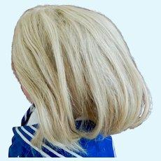 "15"" HC Antique Human Hair wig Long curls"
