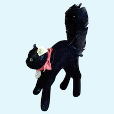 21 cm or 8.5 Inch Steiff Black  Arched Scaredy   Cat 1950-1960