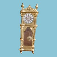 Miniature Ormalou Grandfather Clock with Swing Pendulum/Dollhouse