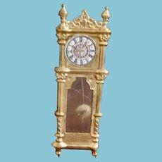 Miniature Ormalou Grandfather Clock with Swing Pendulum/Dollhouse