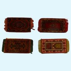 Four Dollhouse Tobacco Rugs