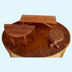 Three Pieces Artist Dollhouse Furniture