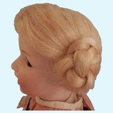 Blonde Mohair Coiled Braid Wig