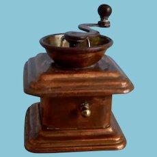 Miniature Coffee Mill Holding Tape Measure