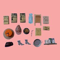 Seventeen Dollhouse Items