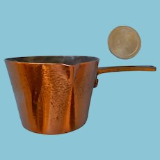 Fine Copper Pot for a Miniature Stove, Dolly or Kitchen