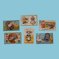 Six Dolly Thanksgiving Postcards