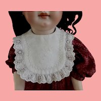 Gorgeous Embroidered 'Bebe' Bib with Hand Stitching