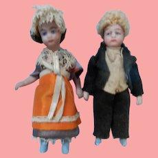 French Liliputian Wedding Couple by SFBJ