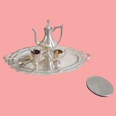 Miniature Partial Sterling Tea Set