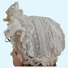 Antique Lace Bonnet for Bebe'