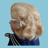 Larger Antique Blonde Mohair Wig