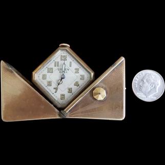 Miniature Gruen/ Guilo  Deco Clock for your French Fashion Doll
