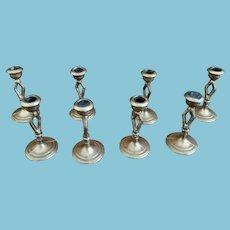 Nine Miniature Matching Dollhouse Candle Sticks