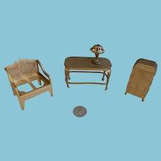 Four Tootsie Toy Pieces/ Dollhouse