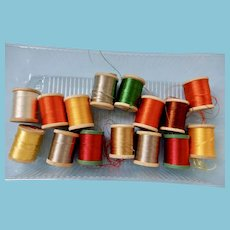 16 Spools of Silk Embroidery Floss
