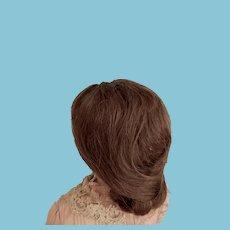 11''-12'' Brown Human Hair Wig