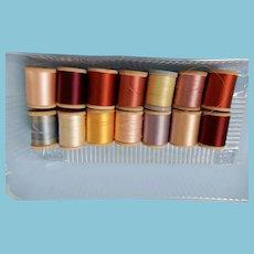 14 Spools of Silk Thread Minus One