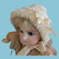 Stunning Handmade Silk Bonnet