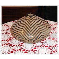 Extraordinary Hand Crafted Pottery Vase With Carved Geometrical Design