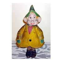 Vintage Gnome Dual Action Nodder Papier-Mache Doll