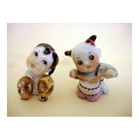 Rare Miniature Oriental Porcelain Figurines