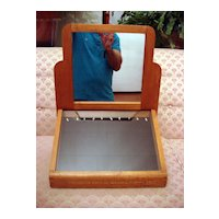 Art Deco Optical Wooden Display Case