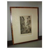 Vintage French  Etching By Victor Maunier