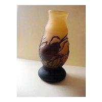 Miniature Cameo Glass Beetle Vase