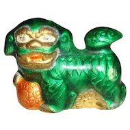 Chinese Miniature Enamel Porcelain Foo Dog