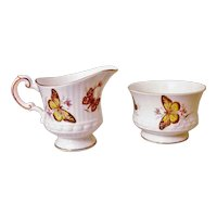 Rosina China Co. Ltd - England - Queen's Creamer & Sugar Bowl