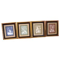 Nature's Four Seasons Fine Parian Porcelain Plaques By Franklin Porcelain