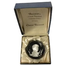 Limited Edition Baccarat Sulphide Paperweight Of Eleanor Roosevelt