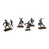 Vintage English Lead Soldiers Figurines