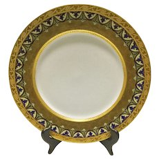 Antique Charles Ahrenfeldt French Limoges Porcelain Plate The Hedges MW Barnum