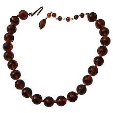 Vintage Glass Beads Choker