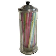 Vintage Gemco Glass Straw Dispenser