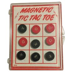 Vintage Pocket Size Portable Magnetic Tic Tac Toe Game