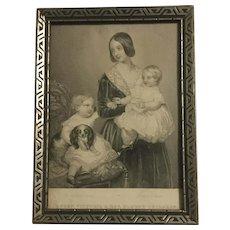 Engraving Of Queen Victoria & Her Eldest Children