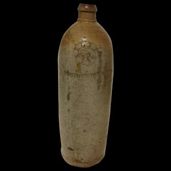 1800s German Salt Glazed Stoneware Seltzer Jug
