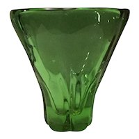 Serves-France Mid-Century Crystal Vase