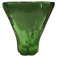 Serves-France Mid-Century Crystal Vase