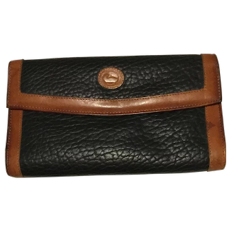 Vintage Dooney & Bourke Authentic Leather Wallet w/ Coin Purse