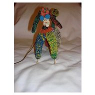 Unique Hand-Made 1950's Telephone Wire Poodle Statue