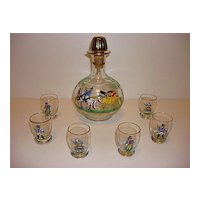 Stunning Rosenthal Hand Painted Liqueur Set