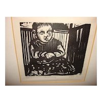 "Woodblock Print ""Awakening"" 80's And Signed"