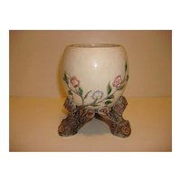Unique Tree Trunk Footed Porcelain Vase M. Krause - Germany