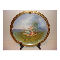 Gorgeous Antique Hand Painted Limoges-France Plate charger