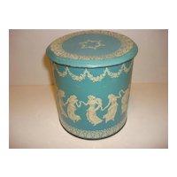 Vintage Wedgwood Style Tin Box- England