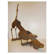 Vintage Adorable Metal Crafted Dog Made of Bolts-Nuts-Springs More....